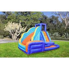sportspower outdoor big wave inflatable water slide walmart com
