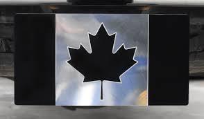 Hitch Flag Tactical Black Canadian Flag Billet Aluminum Trailer Hitch Cover