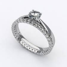 alliance en diamant parure de mariage diamants et or blanc lery