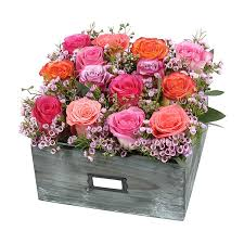 in a box delivery wooden box of roses same day flower delivery nyc plantshed