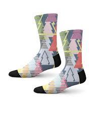 cuff socks with animated christmas tree print unisex socks