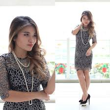 necklace with lace dress images Sarah mai felice fabric metallic silver lace dress lovisa jpg
