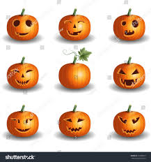 halloween background jack halloween pumpkin objects jack o lantern stock vector 316886075