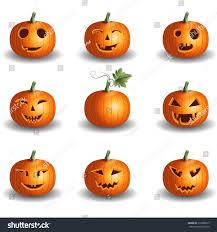 halloween background jack halloween pumpkin objects jack o lantern stock vector 316886075