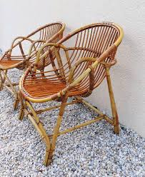 banquette rotin vintage meuble vintage brocanta