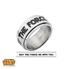 Star Wars Wedding Rings by Star Wars Jewelry Men U0027s May The Force Be With You Stainless Steel