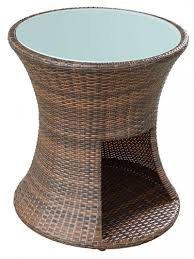 Rattan Side Table Rattan Drum Side Table Modern Furniture Brickell Collection
