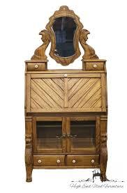 Maddox Tables Secretary Desk by High End Used Furniture Pulaski Furniture Keepsakes Golden Oak