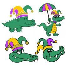 mardi gras alligator mardi gras alligator svg cut file by krizkreationz on etsy
