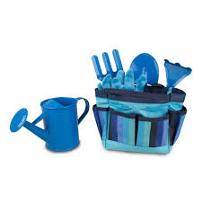amazon com kids gardening tool set blue baby