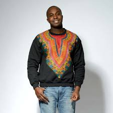 men u0027s african print dashiki sweatshirt green maroon clearance