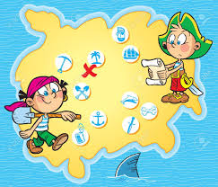 Pirates Map Roger Treasure Hunt Map 29 11 2013 Stock Photos By