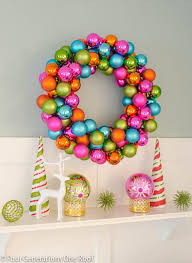 how to make a wreath using colorful ornaments wreaths