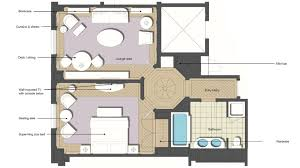 One Bedroom Floor Plan Luxury One Bedroom Suite Hotel Room With Living Room The