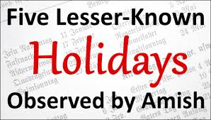what holidays do amish celebrate