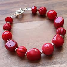 red stone bracelet images Multi stone natural red coral agate carved turquiose semi jpg