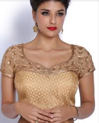 golden blouse golden yoke brocade blouse at rs 2798 brocade blouses