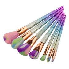 7pc unicorn thread makeup brush set citra u0026 co citra u0026 co
