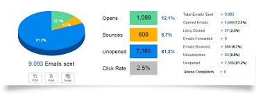 Email Marketing Report Template email marketing reports benchmark email