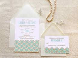 gatsby wedding invitations mint and gold scallops gatsby wedding invitations deco