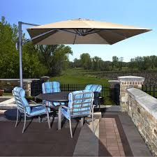 Large Umbrella For Patio Exterior Miraculous Patio Lowes Offset Umbrellas In Brown And