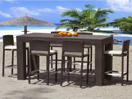 Patio Tall Table And Chairs Patio Set Bar Height Home Design Ideas And Pictures