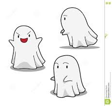 cute halloween ghost pictures halloween character set cute ghost cartoon vector illustration
