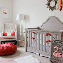 lilly pulitzer baby bedding coral pink flamingo nursery ideas