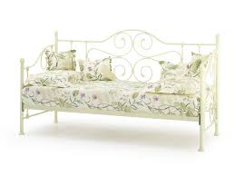 serene florence ivory white metal day bed frame