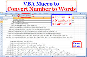 Count Number Of Words In Excel How To Convert Numbers To Words In Indian Currency Format Vba