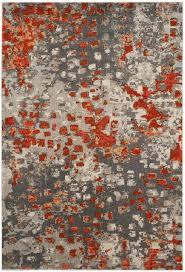 latitude run mila gray orange area rug u0026 reviews wayfair