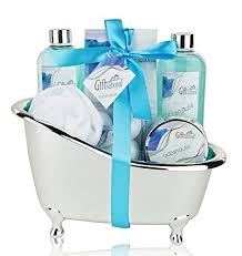 Bathroom Gift Basket Spa Gift Basket With Refreshing Ocean Bliss Fragrance Perfect