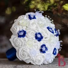 wedding flowers royal blue royal blue silk wedding bouquets tbrb info
