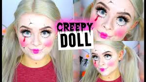 Creepy Doll Makeup For Halloween Creepy Cracked Doll Makeup Drugstore Sophdoesnails Youtube