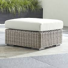 Wicker Outdoor Ottoman Sale Resin Wicker Patio Furniture Crate And Barrel