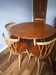 Ercol Dining Table And Chairs Sold Vntage Ercol Dining Table And 4 Matching Ercol Chiltern