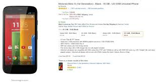 amazon best cell phone deals gsm black friday unlocked deal get a 16gb moto g first gen for just 85 on amazon us