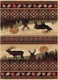 Nature Area Rugs Tayse Nature Elk Area Rug Elk And Products