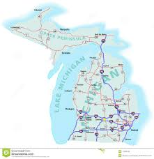 Illinois Interstate Map by Interstate Map Of Michigan Michigan Map