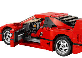 mitsubishi lego lego ferrari f40 announced iconic 1987 supercar u0027s blockbuster toy