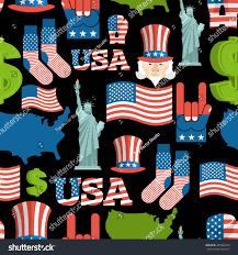 america symbols patriotic pattern usa national stock illustration