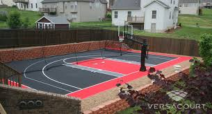 Backyard Tennis Courts Versacourt Atlanta Backyard Multi Sport Game Court Installations