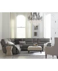 What Is Sectional Sofa Closeout Liam 6 Pc Fabric Sectional Sofa With Console And 2 Power