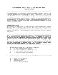 practice test exxonmobil operations selection battery documents