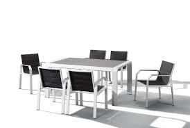 indosoul nomad 7 piece outdoor dining setting white