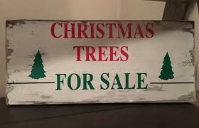 christmas trees for sale sign christmas decorations wood