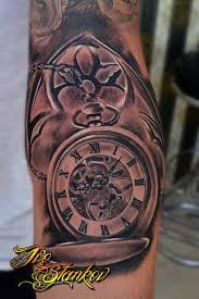 clock tattoo by ivo stankov tattoos pinterest clock tattoo