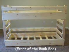 Bunk Bed Plan Easy Strong Cheap Bunk Bed Diy Wood Projects Pinterest