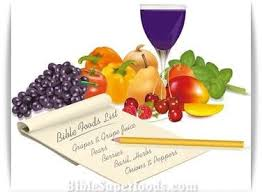 bible list of healthy food