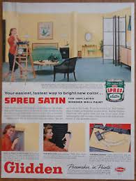 home decor ads 1956 vintage ad glidden spred satin paint 1950s home decor ebay